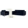 F-633 311 PU Black - Sofa Set 3+1+1 seat